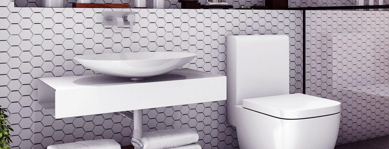 A escolha ideal de louças para o seu banheiro.