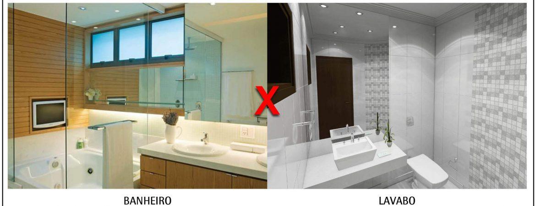 Diferença entre banheiro e lavabo